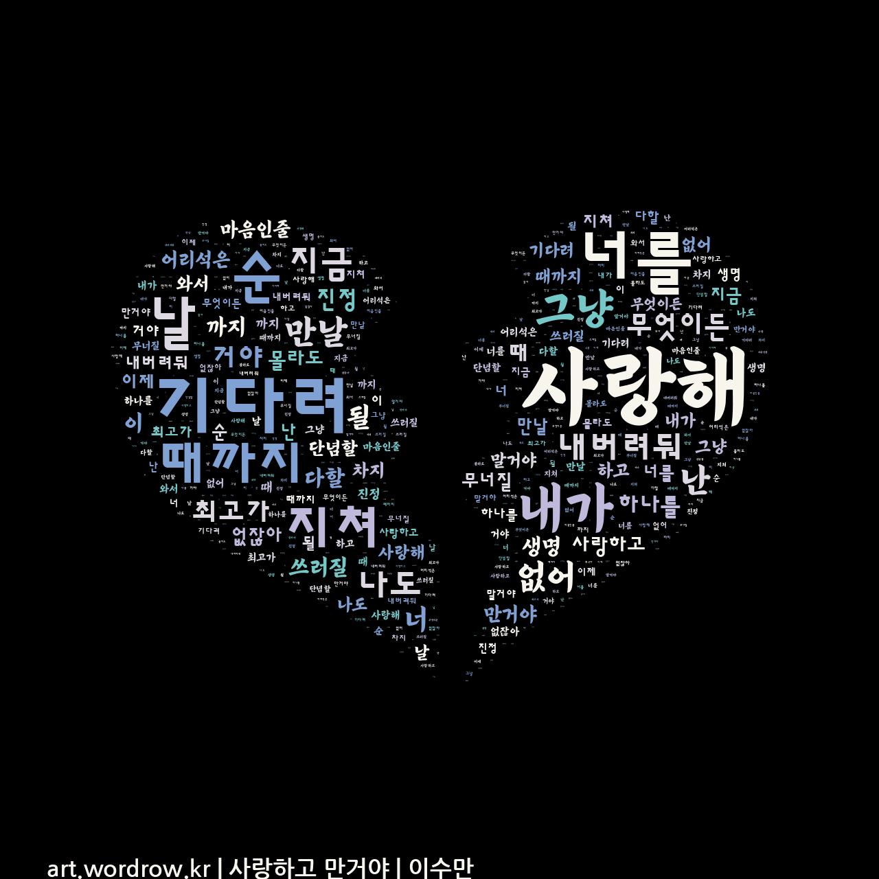 워드 클라우드: 사랑하고 만거야 [이수만]-72